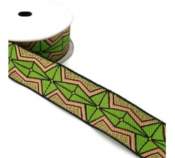 Ribbons African ribbon - Olive green - 35 mm babachic