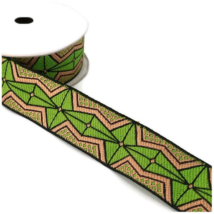 Ruban Africa - Vert olive - 35 mm