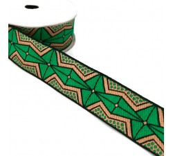 Ribbons African ribbon - Strong green - 35 mm babachic