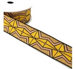 Ribbons African ribbon - Yellow - 35 mm babachic