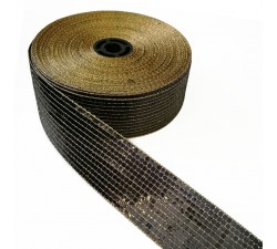 Galónes Cinta lentejuelas - Negro - 40 mm babachic