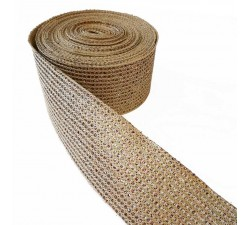 Braid Ribbon - Disco - Golden - 55 mm babachic