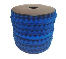 Los minis Gálon de mini pompones - Azul - 10 mm babachic