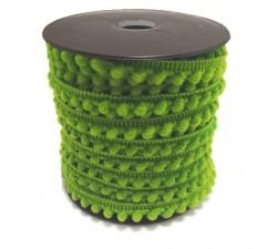 Los minis Gálon de mini pompones - Verde granny - 10 mm babachic