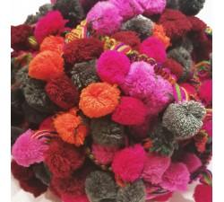 Los grandes Galón Pompones XL - Gris, rosa, naranja, burdeos - 45 mm babachic