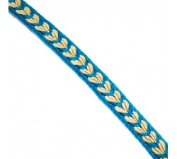 Braid Ribbon Heart - Blue - 7 mm babachic