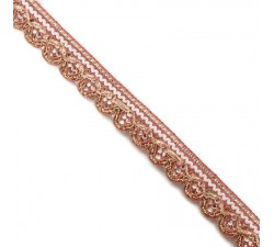 Braid Bright trim - Light pink - 18 mm babachic