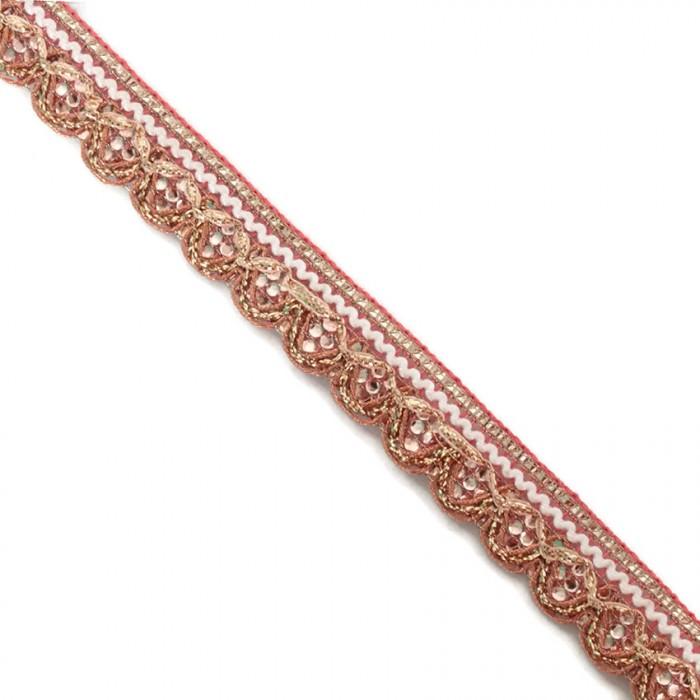 Galón brillante - Rosa claro - 18 mm