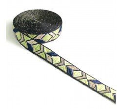 Ribbons Graphic ribbon - Green - 20 mm babachic