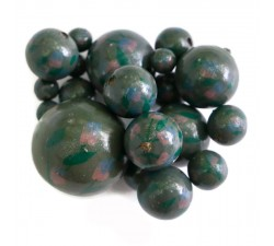 Flowers Wooden beads - Grimpante - Dark green Babachic by Moodywood