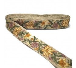 Broderies Bordure Soie - 45 mm Babachic by Moodywood
