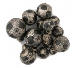 Lune Perles en bois - Lune - Argenté et noir Babachic by Moodywood