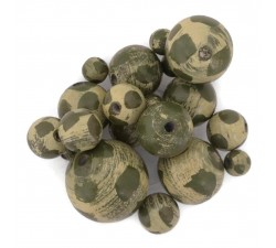 Moon Wooden beads - Moon - Khaki Babachic by Moodywood