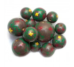 Royal Royal wooden beads - Brown and green Babachic by Moodywood