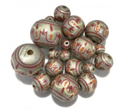 Chandelle Lantern wooden beads - Plateado Babachic by Moodywood
