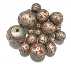 Chandelle Perles en bois Lanterne - Argenté Babachic by Moodywood