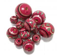 Lanterne Perles en bois Lanterne - Magenta Babachic by Moodywood