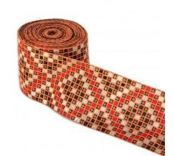 Bordado Bordado Gráfico - Naranja y negro - 85 mm