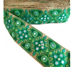 Embroidery Ethnic border - Green - 75 mm Babachic by Moodywood