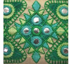 Bordado Cinta Etnica - Verde - 75 mm Babachic by Moodywood