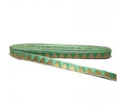 Galónes Cinta verde con hilo dorado - 15 mm Babachic by Moodywood