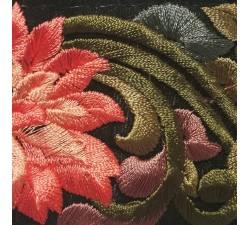 Embroidery Silk retro embroidery - Salmon, khaki - 60 mm babachic