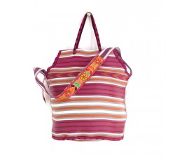 Sacs XXL Grand sac de plage couleur magenta et orange Babachic by Moodywood
