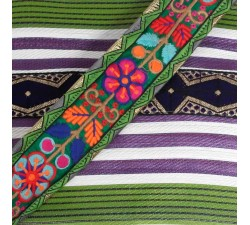Sacs XXL Grand sac de plage couleur violet et vert Babachic by Moodywood