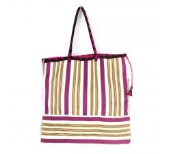 Tote bags Bolsa clásica fucsia, blanco y amarillo Babachic by Moodywood