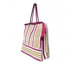 Tote bags Cabas classique carré fushia, jaune et blanc Babachic by Moodywood