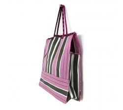 Tote bags Bolsa clásica con rayas verde y rosa Babachic by Moodywood