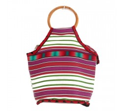 Sacs Petit sac à main Bamboo vert et magenta Babachic by Moodywood