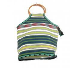 Bolsos Pequeño bolso de bambú color lima Babachic by Moodywood