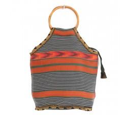 Bolsos Pequeño bolso de bambú naranja y negro Babachic by Moodywood