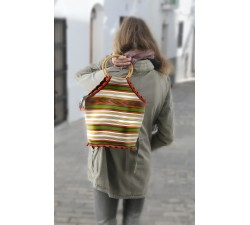 Bags Small orange and green Bamboo handbag Babachic by Moodywood