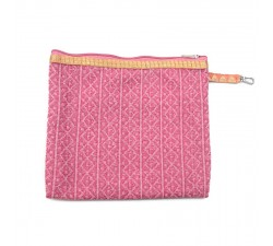 Golden light pink clutch