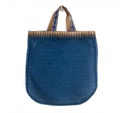 Sacs Tote bag doré et bleu Babachic by Moodywood