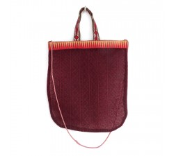 Sacs Tote bag doré et rouge Babachic by Moodywood