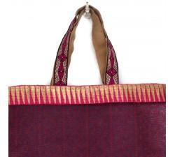 Transparent handbag Golden magenta tote bag Babachic by Moodywood