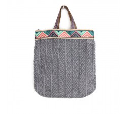 Sacs Tote bag graphique et gris Babachic by Moodywood