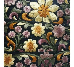 Embroidery Silk border black and yellow - 50 mm babachic