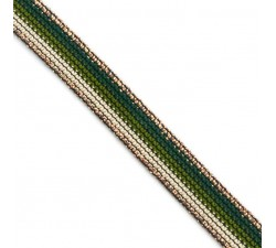 Braid Khaki Rainbow ribbon - 15 mm Babachic by Moodywood
