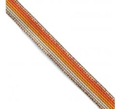 Galónes Cinta Rainbow naranja - 15 mm Babachic by Moodywood