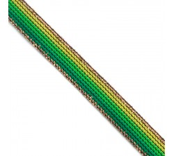 Braid Green Rainbow ribbon - 15 mm Babachic by Moodywood