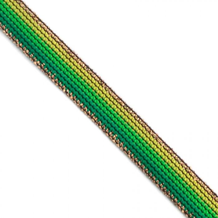 Galon Rainbow vert - 15 mm