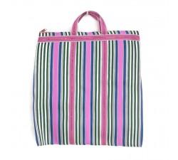 Tote bags Bolso indio simple con rayas rosa, verde y azul Babachic by Moodywood