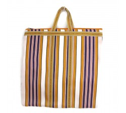 Tote bags Cabas indien simple rayé jaune et violet Babachic by Moodywood