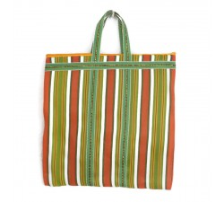 Tote bags Cabas indien simple rayé vert et orange Babachic by Moodywood