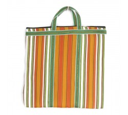 Tote bags Cabas indien simple rayé orange et vert Babachic by Moodywood