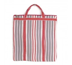 Tote bags Red and white Indian striped simple bag Babachic by Moodywood